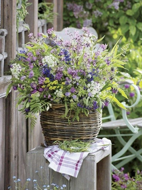Pretty basket arrangement