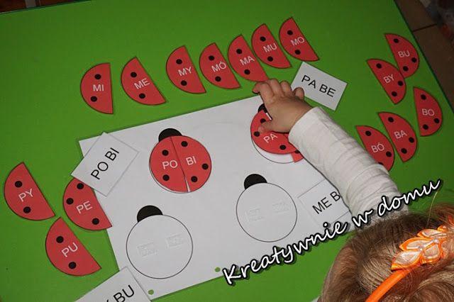 Biedroneczki są w kropeczki - kolejne zmagania z nauką czytania | Kreatywnie w domu