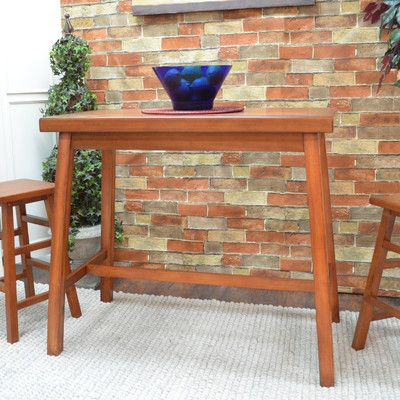 Charlton Home Cotaco Bar Table Finish: Walnut
