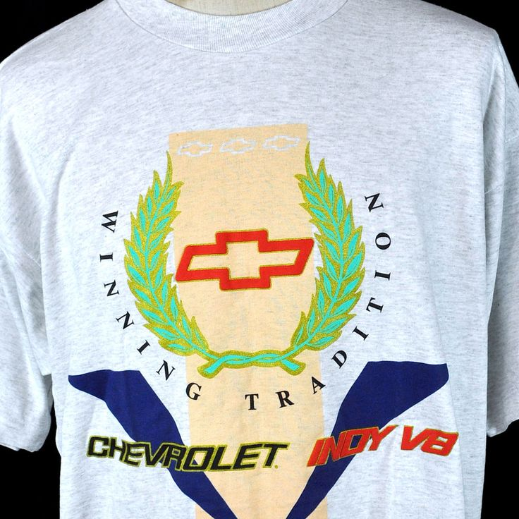Vtg Chevy Indy 500 V8 Winning Tradition 2XL T-Shirt New Chevrolet Racing USA #FruitoftheLoom #Chevrolet