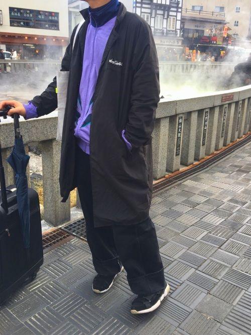 温泉旅行〜♨️😇紫のジャージと合わせ