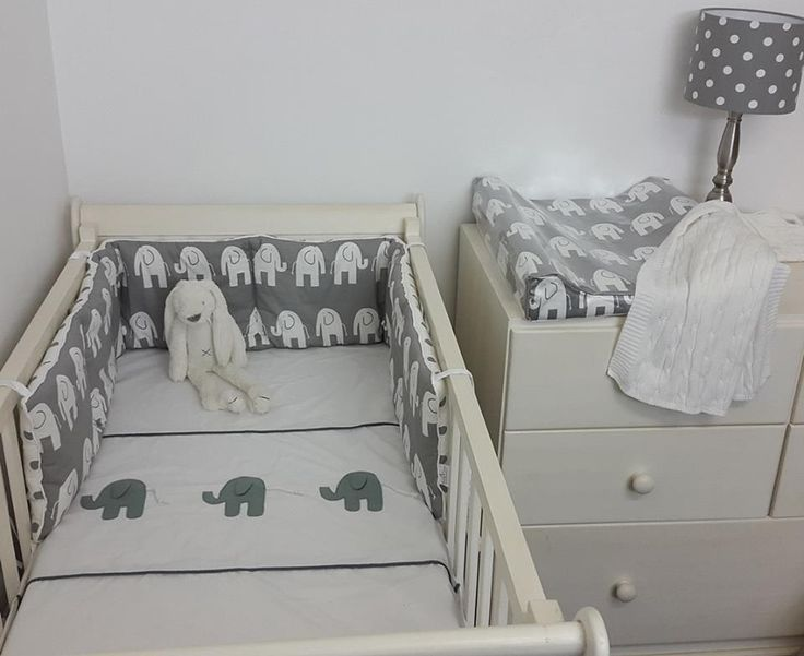 Our #ElephantTheme bedding is perfect for any #NeutralNursery!  #BabyBedding #BabyNursery