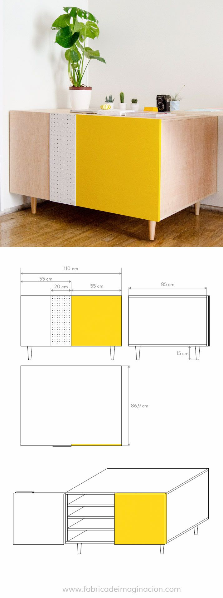 DIY Flat files cabinet · DIY Planera · Fábrica de Imaginación · Steps in Spanish