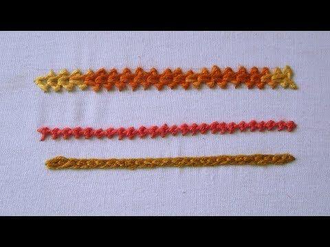 Hand Embroidery | Chain Stitch | 3 Different Chain Stitch | Basic Chain Stitches - YouTube