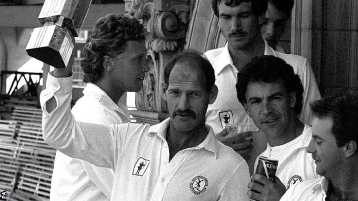 RIP a great cricketer and inspiration to a generation.mClive Rice lifts the 1987 NatWest Trophy