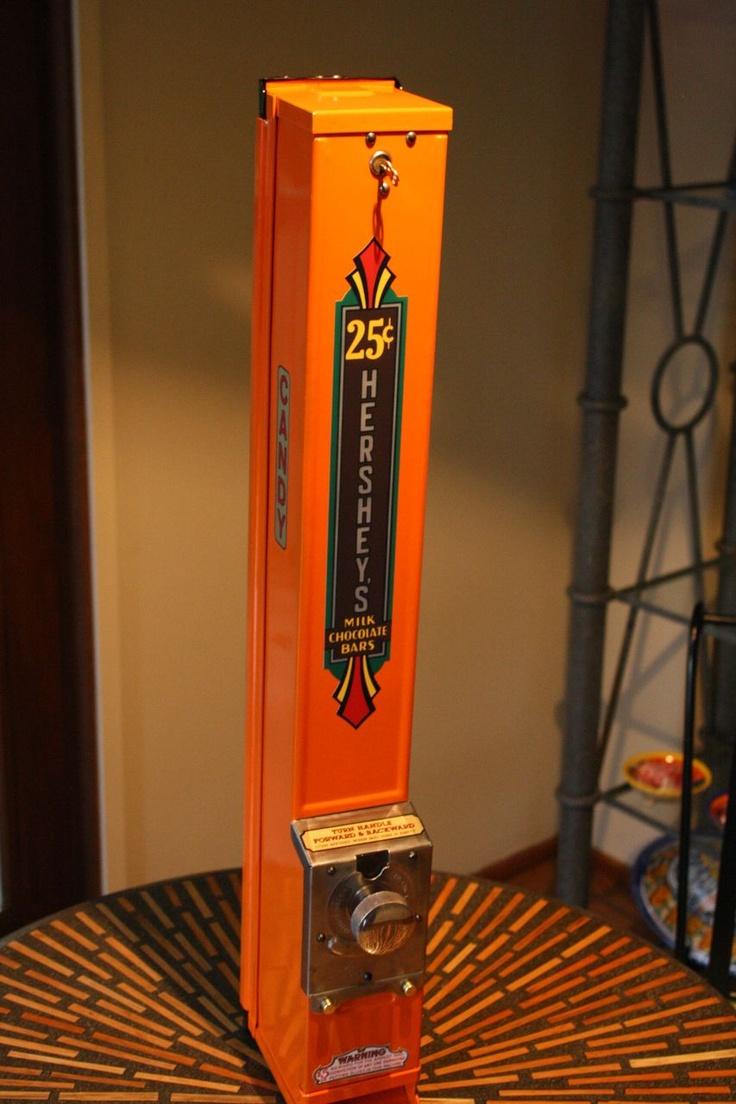 Vintage 25¢ Hershey Miniatures Candy Vending Machine