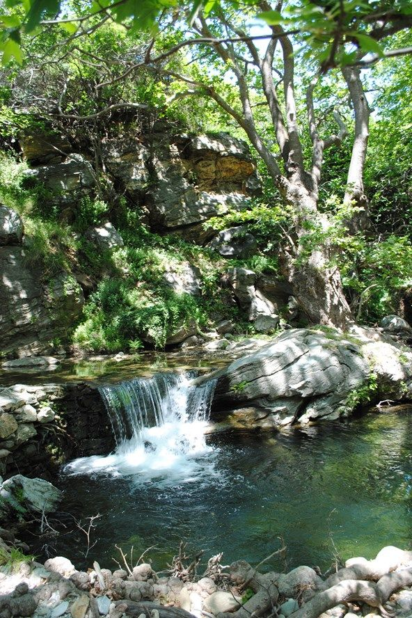 River Andros, on the Greek Island of Andros, Greece