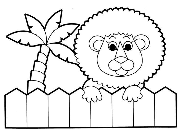 baby jungle animals coloring pages preschool jungle coloring