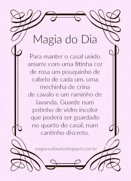 Magia no Dia a Dia: Magia do Dia: união  http://magianodiaadia.blogspot.com.br/2016/11/magia-do-dia-uniao.html