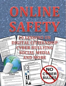 This is a 10 lesson workbook that discuss how to be safe online, digital citizenship, cyber bullying and surfing safe to include social media.Here is what is in the packet:1.  Online safety scenario worksheet 2.  Digital Life:  Playing it safe online.
