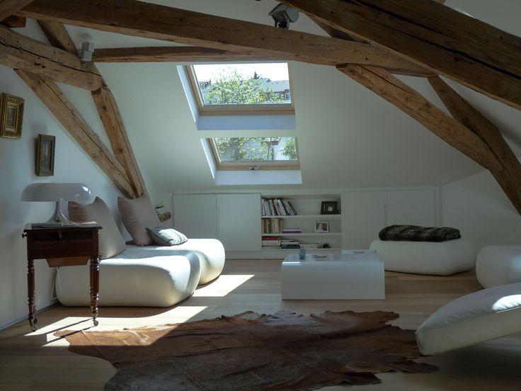 L'attico, la zona living