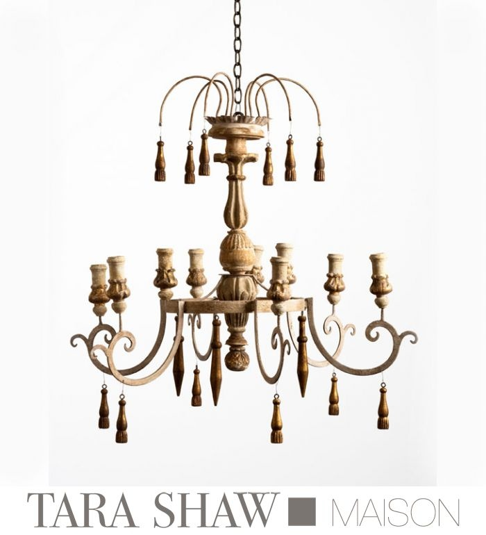 In Stock Now For Holidays Tara Shaw S New Orleanian 6 Arm Italian Grandeur Chandelier