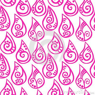 Pink background decorated drops seamless pattern. (C) Celia Ascenso 2017