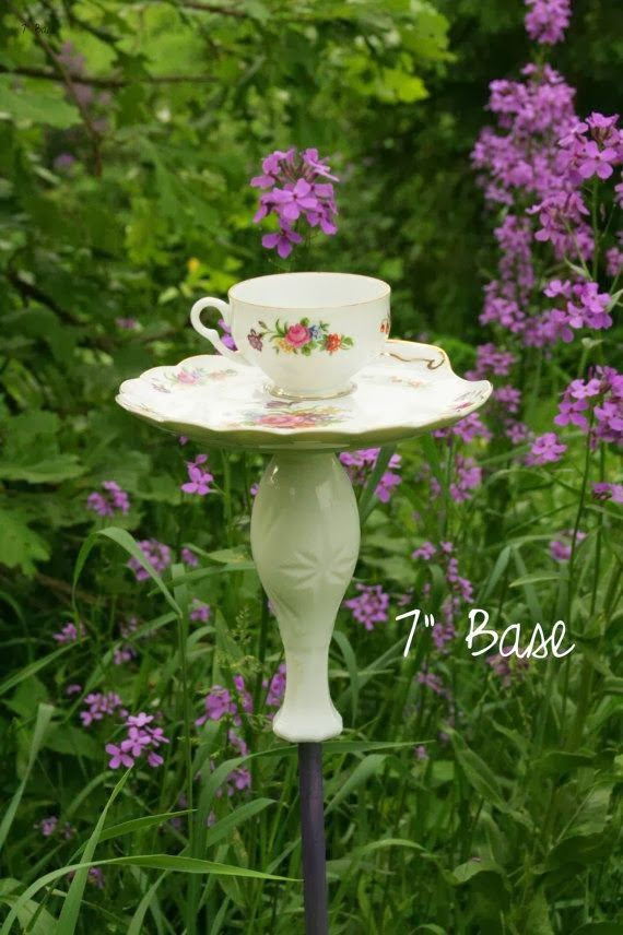 17 best images about favorite things on pinterest how to for Garden art from old dishes