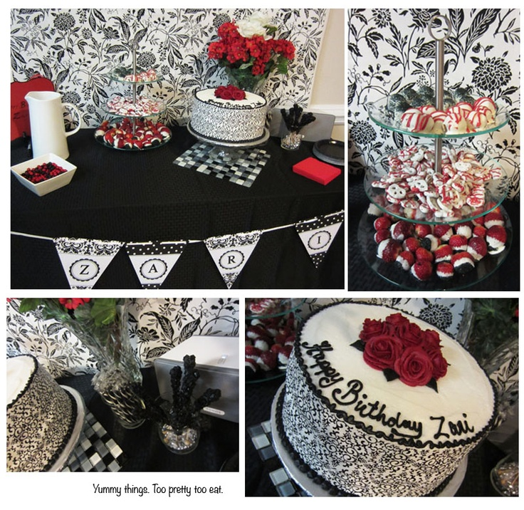 60th Birthday Color Ideas: 60th Birthday Party. Dessert Table Design By Sherrie Dyal