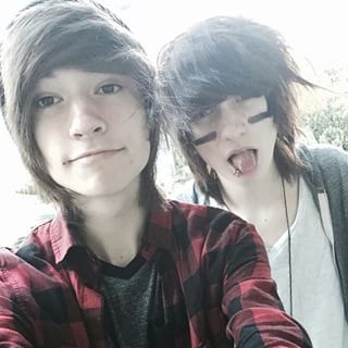 """people put this under their """"emo"""" board but they dont realize its kyle and johnnie❤❤❤"""