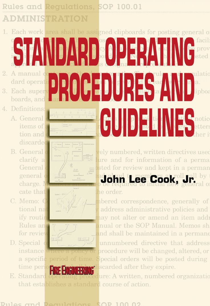 Fire Engineering Books: Standard Operating Procedures And Guidelines