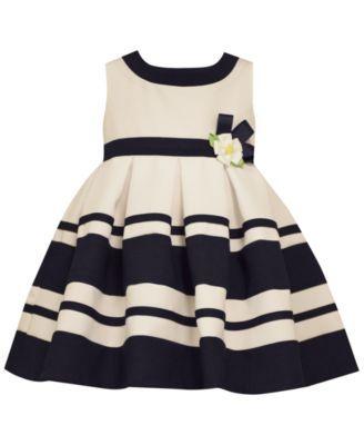 Bonnie Baby Baby Girls' Stripe & Daisy Party Dress