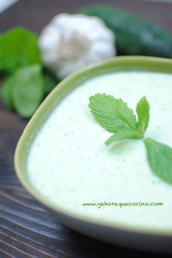 Receta+de+Crema+Fría+de+Pepino+y+Yogurt
