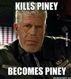 Hmm. Quite true. Jax flipped the script though..... He became Clay first then killed him.... Great twist