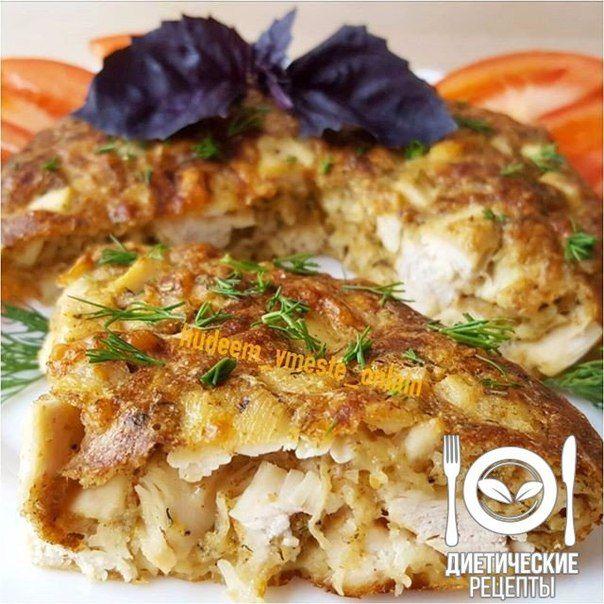 Приготовьте себе на обед быструю, лёгкую запеканку из курицы