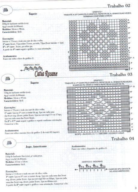Caminos de mesa, almohadones, tapetes / Revista Crochet | Patrones para Crochet