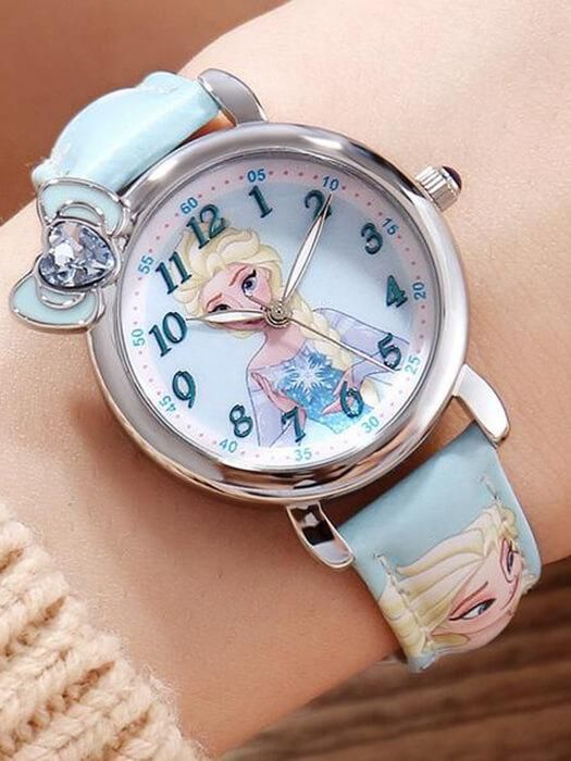 Children's Watches The Cheapest Price Cartoon Frozen Childrens Watches Disney Brand Children Girls Wristwatch Quartz Leather Waterproof Child Watch Girl
