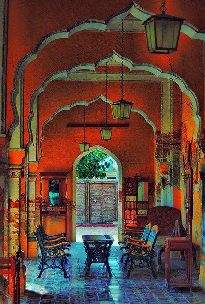 bohemian style: Spaces, Red Wall, Interiors, Arches, Vibrant Colors, Moroccan Style, Architecture, Places, Bohemian Style