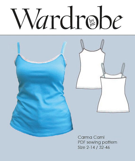 The Carma Camisole is a super simple jersey top or dress. The fabric requirement is so little, that you will be able to make tops from all your