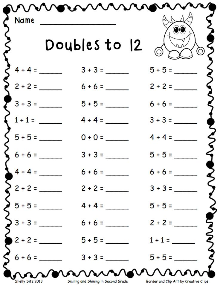 Doubles to 12.pdf Add and subtract Math, Math