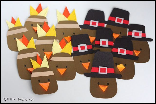 Kindergarten Indian And Pilgrim Craft To Wear For Kids