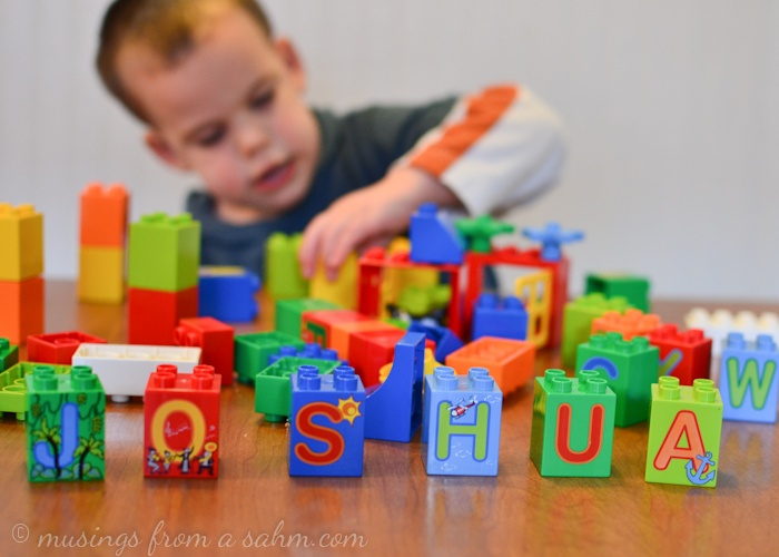 Creative Play with LEGO DUPL0 Letters!  #LEGODUPLOplay