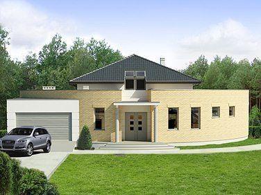 Charakterystyka domu: - jednorodzinny dom parterowy, z rekreacyjną antresolą na użytkowym poddaszu, niepodpiwniczony o charakterze małej rezydencji - przeznaczony dla 4-5 osób