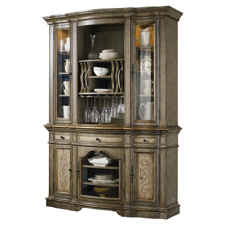 Featuring Ample Storage Space For Stowing Fine China, Stemware, And Linens,  This Handsome Wood Display Cabinet Brings Polished Style To Your Dining  Room Or ...
