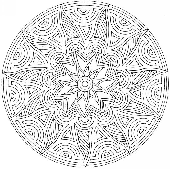 geometric coloring pages advanced nature - photo#13