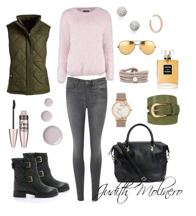"""Blush khaki style"" by judith-molinero-fashion on Polyvore featuring M.i.h Jeans, Kate Spade, Boohoo, Weatherproof Garment Company, H&M, CLUSE, Maria Black, Bony Levy, White Stuff and Linda Farrow"
