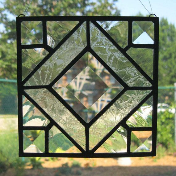 Traditional Stained Glass Suncatcher and Stand by Nanantz on Etsy, $40.00