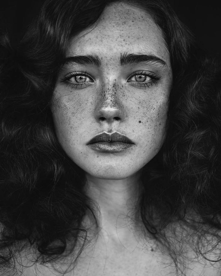Beautiful portraits of women with freckles