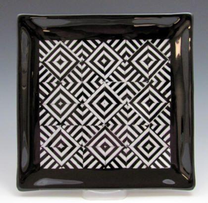 Fused art glass plates