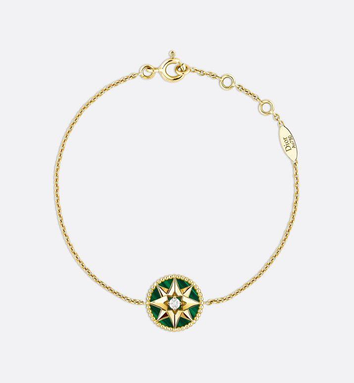 Rose Des Vents Bracelet 18k Yellow Gold Diamond And Malachite Fashion Jewelry Jewelry Woman Dior Malachite Jewelry Jewelry Womens Fashion Jewelry