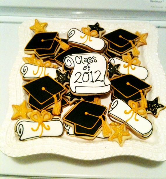 12 Graduation diploma cookies any color by BakeMyDayCookies, $36.00