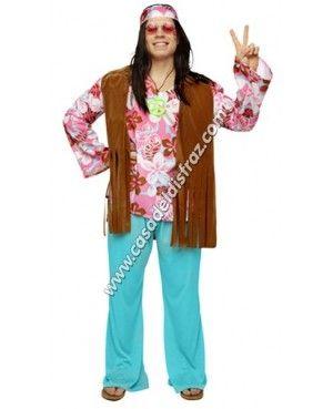 Disfraz de Hippie Hombre para Carnaval #DisfracesOriginales #Disfraces http://casadeldisfraz.com/