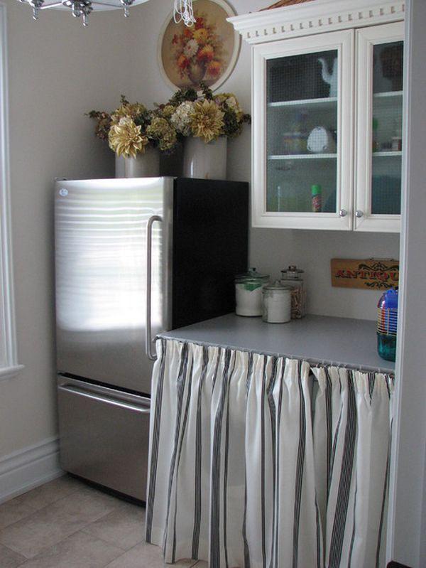 33 Unique Kitchen Cabinet Curtain Ideas to hide your Clutter ...