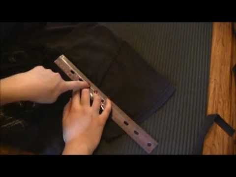 "▶ Goth DIY: ""Corset Laced"" T-Shirt Cutting Tutorial - YouTube"