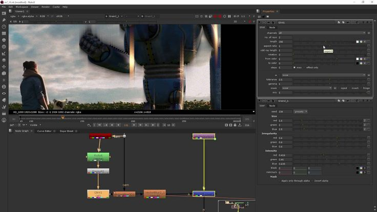Module 7 Adding Effects - NUKE for After Effects users, part6 (GLINT)