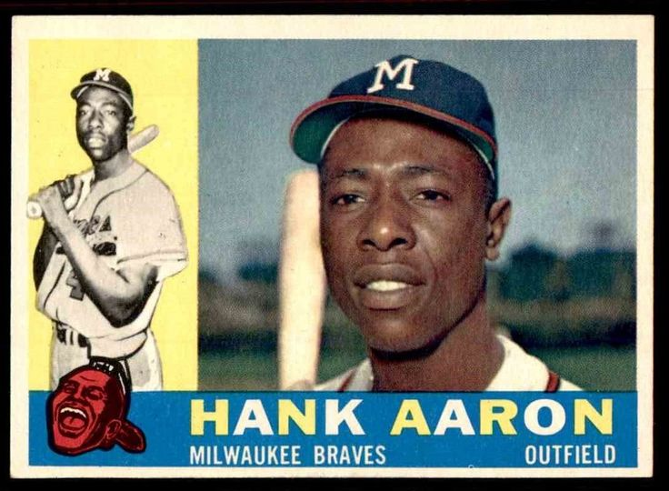 1960 TOPPS #300 HANK AARON BRAVES NM+ to NM-MT