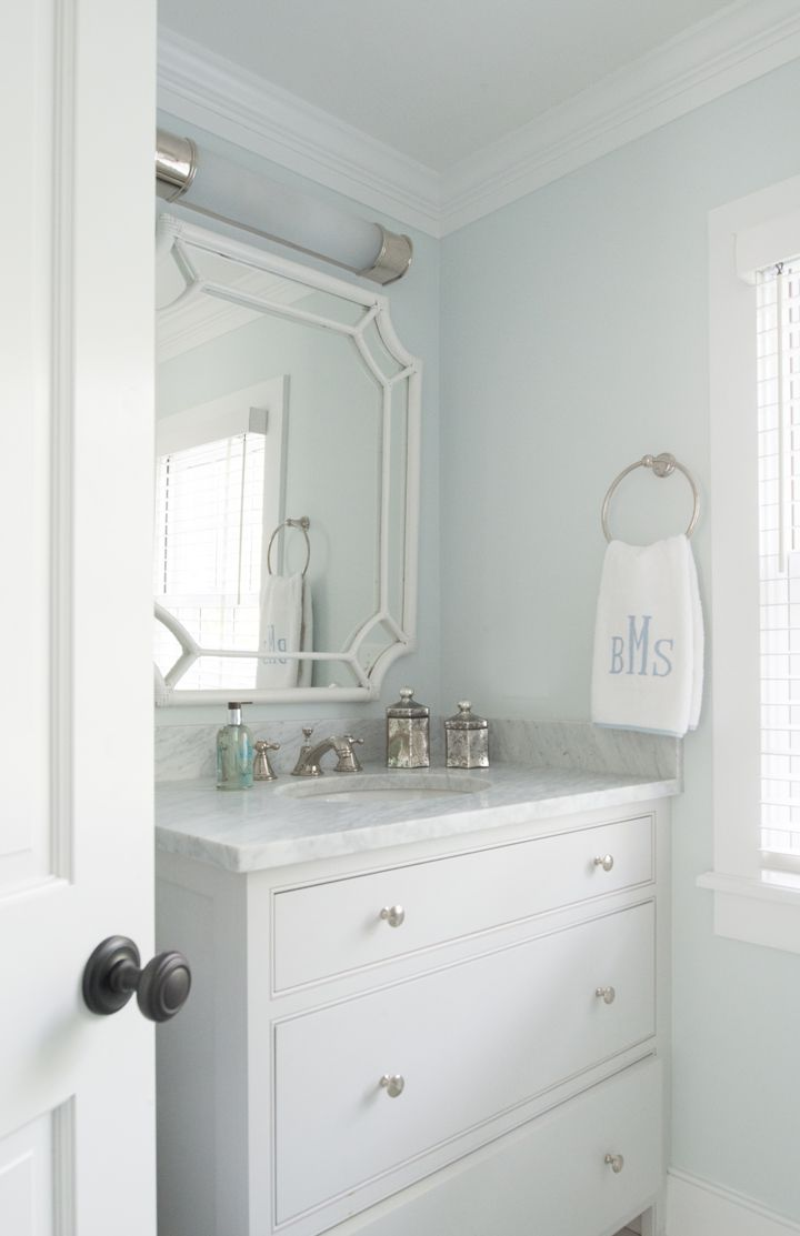 with its classic blue and white coastal palette this historic watch hill rhode island attic bathroommaster bathroombathroom ideasblue