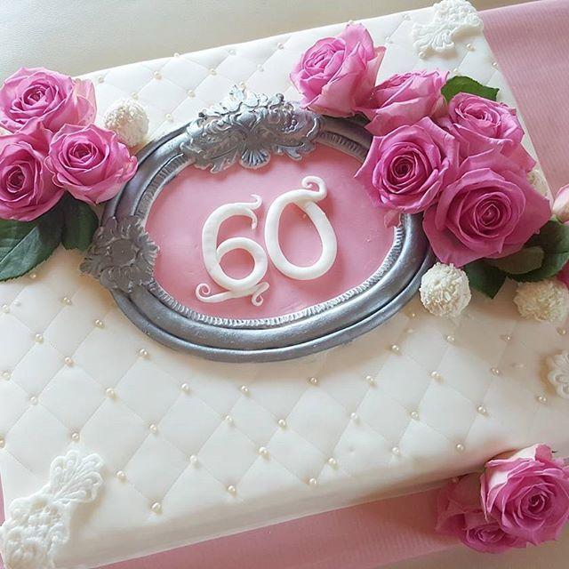 Zum 60ten Geburtstag.. #torte #backen #backing #cake #instfood #lecker #motivtorte #tortenkunst #fondantcakes #cakeart #cakedesing #fondant #rosen #raffaello #geburtstag #instaschön #instalike #flowers #blumen #geburtstagstorte #backinglove #backkunst #zucker #kuchen #rosa #pink