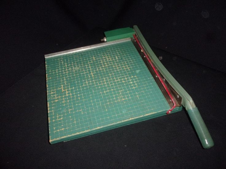 "Vintage Premier 16"" Wood Guillotine Paper Cutter - Dangerously Awesome! #PremierBrand"