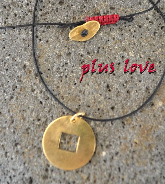 The Circle and the Square gold patted silver by PlusLoveStudio - 22.00euro